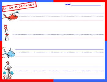 Dr Seuss Sentences