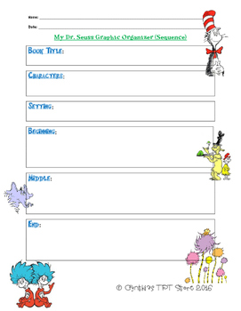 Dr. Seuss Sequence Graphic Organizer