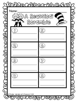 Sight Word-Dr.Seuss Scrammble