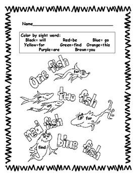 Dr. Seuss Sight Words