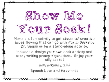Dr. Seuss Silly Sock Activity!