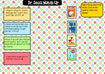 Dr. Seuss SmartBoard Activities