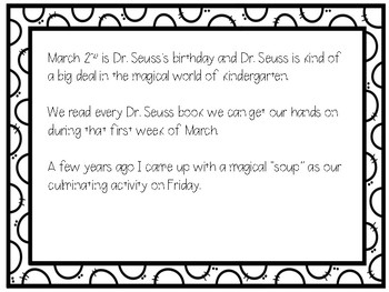 Dr. Seuss Soup {A Recipe for March 2nd}