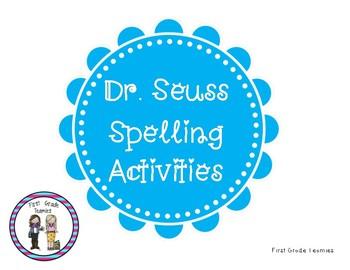 Seuss Week Spelling Activities