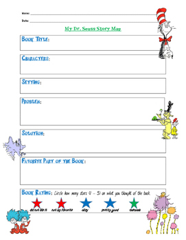 Dr. Seuss Story Map Graphic Organizer
