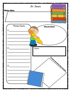 Dr. Seuss Story Map - Graphic Organizer