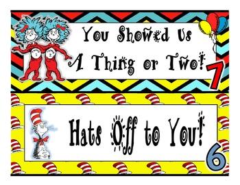 Dr. Seuss Style *BEHAVIOR CLIP CHART*