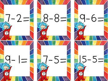 Dr. Seuss Subtracting Withing 20 Matching