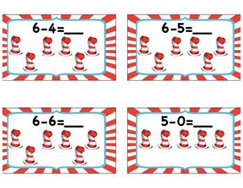 Dr. Seuss Subtraction Cards