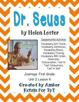 Dr. Seuss Supplemental Activities 1st Grade Journeys Unit 2, Lesson 9
