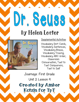 Dr. Seuss Supplemental Activities 1st Grade Journeys Unit