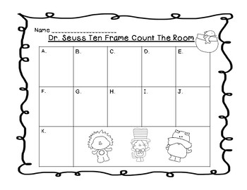 Dr. Seuss Ten Frame Count the Room