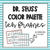 Dr. Seuss Tens Frames for Counting School Days