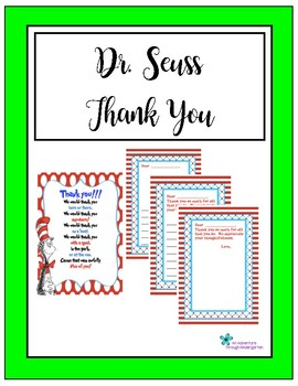 Dr. Seuss Thank You