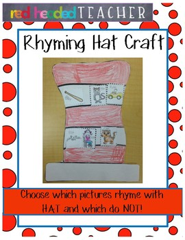 "Dr. Seuss ""The Cat in the Hat"" Rhyming Craft"