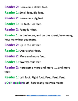 Dr. Seuss The Foot Book Readers Theater