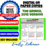 Dr. Seuss' The Grinch (2018) Math Movie Notes / Guide DIGITAL or PRINT VERSIONS