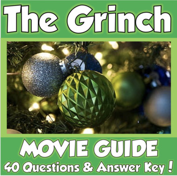 Dr Seuss The Grinch 2018 Movie Guide Tpt