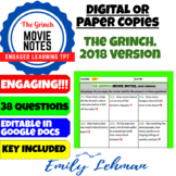 Dr. Seuss' The Grinch (2018) Movie Notes/ Guide - DIGITAL or PAPER COPIES