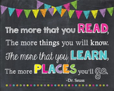 Dr. Seuss The More That You Read The Places You'll Go Chalkboard Inspirational