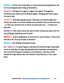 The Sneetches Readers Theater