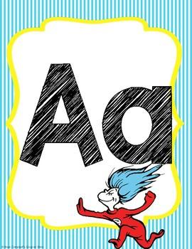 Dr Seuss Theme {Alphabet Line}