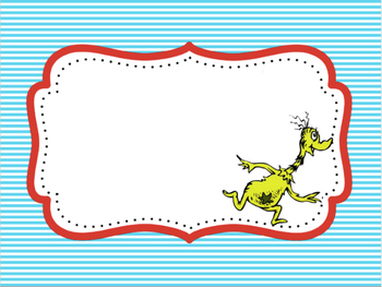 Dr Seuss Theme {Blank Pages}