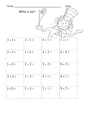 Suessy Common Core Math Kindergarten Skillsheets:  25 pages