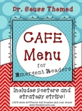 Dr. Seuss Theme CAFE Menu for Emergent Readers