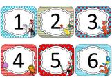 Dr. S Theme Calendar Cards {EDITABLE}