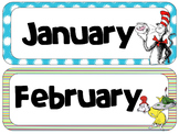 Dr. S Theme Calendar Headers | Months and Days of the Week