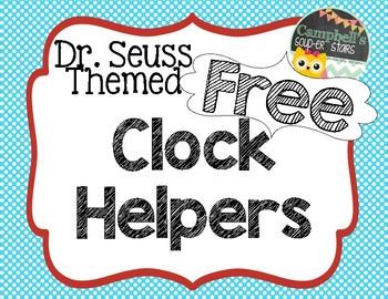 Dr Seuss Theme {Clock Tags}