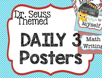 Dr Seuss Theme {Daily 3 Math Posters}