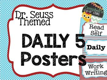 Dr Seuss Theme {Daily 5 Bundle}