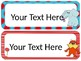 Dr. S Theme Desk Tags/Name Cards {EDITABLE}