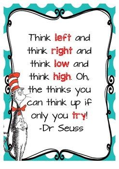 Dr Seuss Theme Growth Mindset Posters