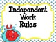 Dr Seuss Theme {Independent Work Rules}