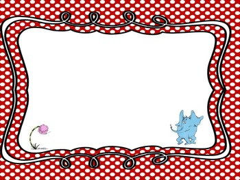 Dr Seuss Theme {More Blank Pages}