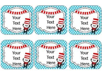 Dr. Seuss Theme Name Cards {EDITABLE}