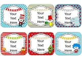 Dr. S Theme Name Cards {EDITABLE}
