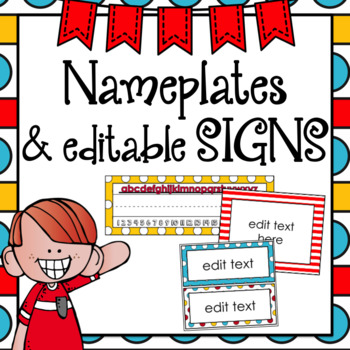 Nameplates and Signs ~ Editable Whimsical Theme
