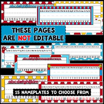 Nameplates | Editable Class Signs | Whimsical Classroom Decor
