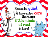 Dr. Seuss Theme Nap SIgn