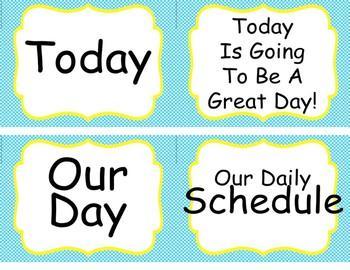 Dr Seuss Theme {Schedule}