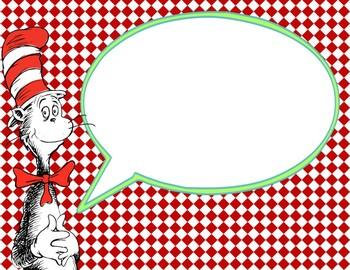 Dr Seuss Theme {Speech Bubbles}
