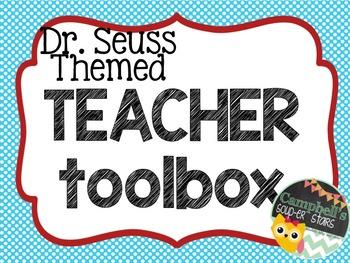 Dr Seuss Theme {Teacher Toolbox}
