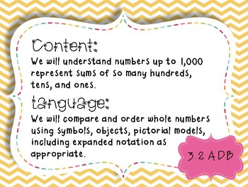 3rd Grade Math Objectives TEKS based. #toocute Themed