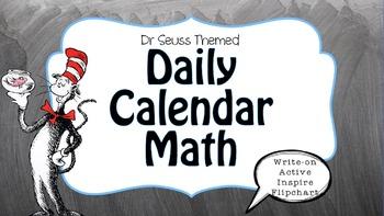Dr. Seuss Themed {ActiveInspire ::Calendar Math Flip Chart::}