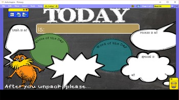 Dr Seuss Theme {ActiveInspire ::Day At A Glance::}