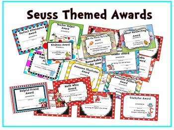 Dr. Seuss Themed Award Certificates